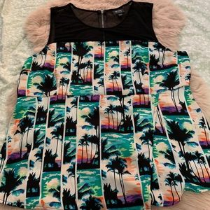 Nicole tropical blouse